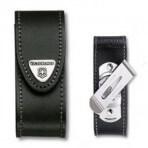 Etui cuir noir + clip Victorinox pour couteaux suisses 9,1cm - 6 à 14 pièces