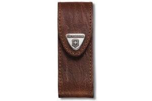 Etui cuir marron Victorinox pour couteaux suisses 9,1cm - 6 à 14 pièces