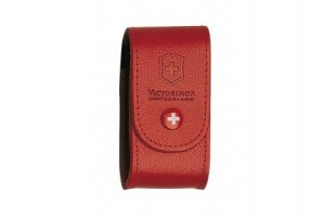 Etui cuir rouge Victorinox pour couteaux suisses 9,1cm - 15 à 23 pièces