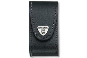 Etui cuir noir Victorinox pour couteaux suisses 9,1cm - 15 à 23 pièces