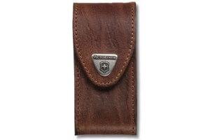 Etui cuir marron Victorinox pour couteaux suisses 9,1cm - 15 à 23 pièces