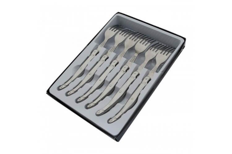 Coffret 6 fourchettes de table Laguiole Tribloc
