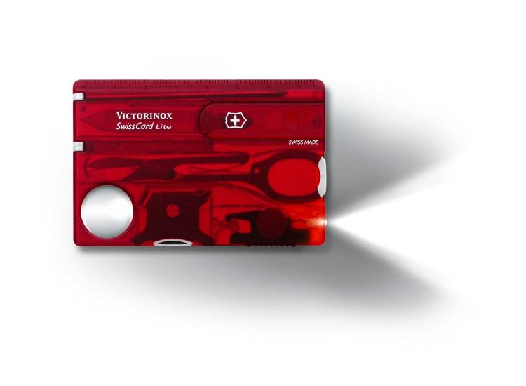 Carte SwissCard lite Victorinox 8 pièces rouge