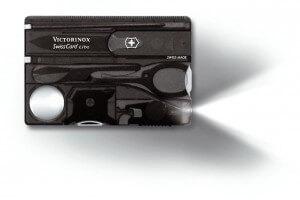 Carte SwissCard lite Victorinox 8 pièces noire
