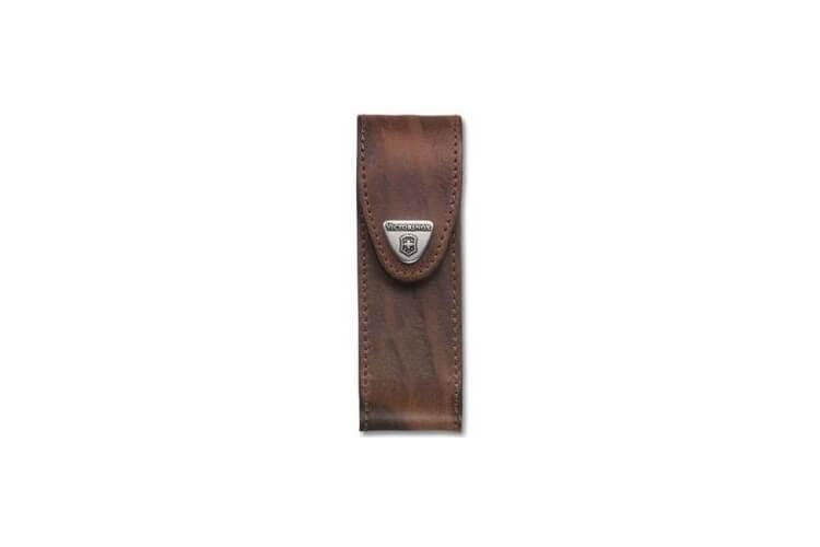 Etui cuir marron Victorinox pour couteaux suisses 11,1cm - 4 à 10 pièces