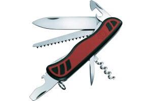 Couteau suisse Victorinox Forester rouge et noir bi-matière 111mm 10 fonctions