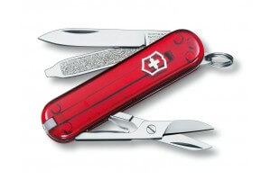 Couteau suisse Victorinox Classic SD rouge translucide 58mm 7 fonctions