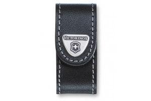 Etui cuir noir Victorinox pour couteaux suisses Minichamp et Modèles USB