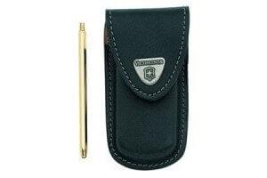 Etui cuir noir Victorinox pour couteaux suisses Golftool avec porte mine