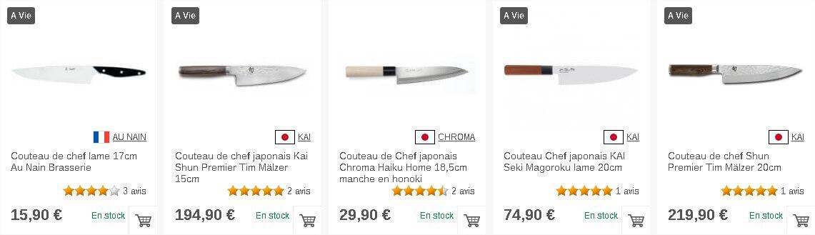 Couteaux de chef sur Couteauxduchef.com