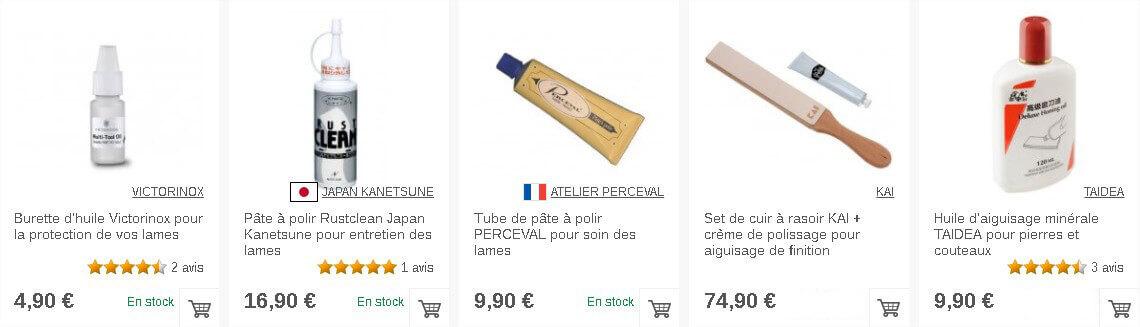 Produits d'entretien des lames des couteaux de cuisine sur Couteauxduchef