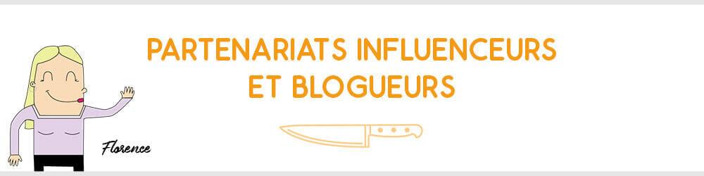 Demande de partenariat blogueur et influenceur sur Couteauxduchef