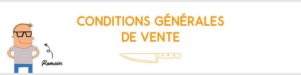 Conditions générales de vente de Couteauxduchef