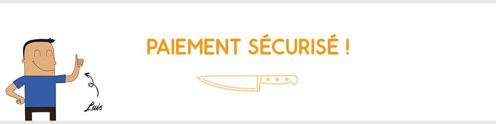 Paiement sécurisé sur Couteauxduchef