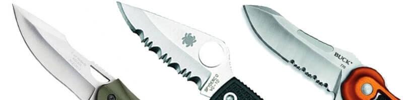 couteaux tranchant lisse denté