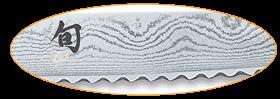 Retrouvez les couteaux à pain avec des dents en forme de dents de scie. Ce type de couteau est très tranchant mais produits plus de miettes.