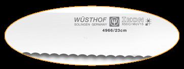 Ce couteau à pain avec dents classiques et une forme régulière vous offre une très bon tranchant !