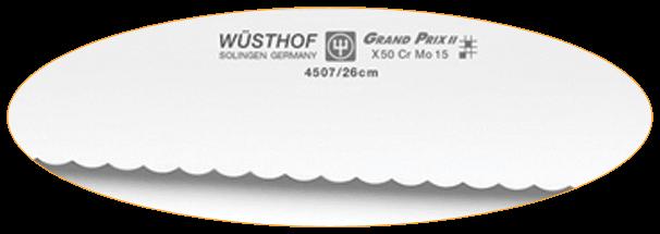 Retrouvez les couteaux à pain à dentelure inversée. Celui-ci se montrera légèrement moins tranchant et demande une pression plus importante.