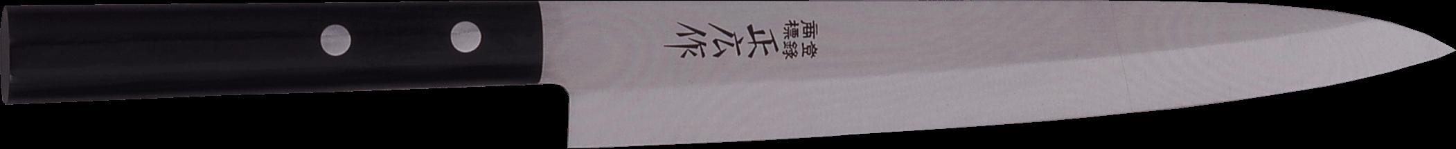 Masahiro dispose de couteaux de qualité possédant une dureté qui s'élève entre 59 et 60