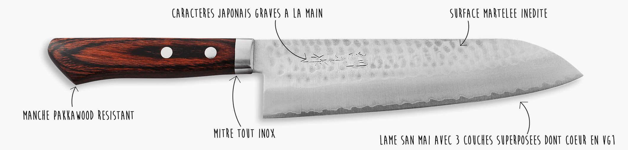 Les caractéristiques d'un couteau Masutani