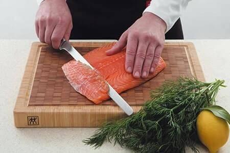 couteau saumon