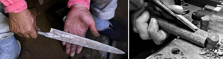 Des couteaux fabriqués artisanalement et dans la tradition