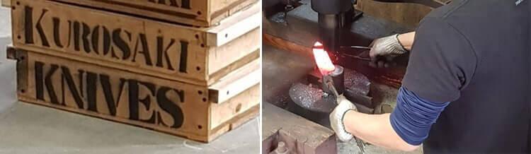 Fabrication couteaux Kurosaki