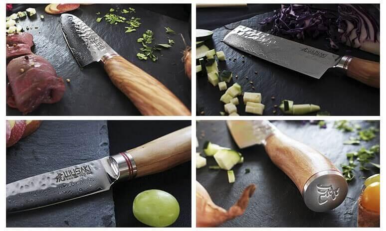 Les couteaux Wusaki Damas VG10