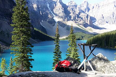 Tabouret trépied camping