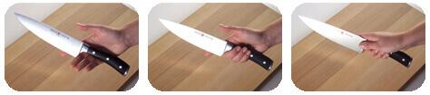 Comment tenir un couteau de cuisine