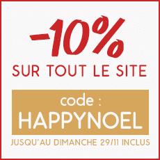 Offre de Noël -10% sur tout le site